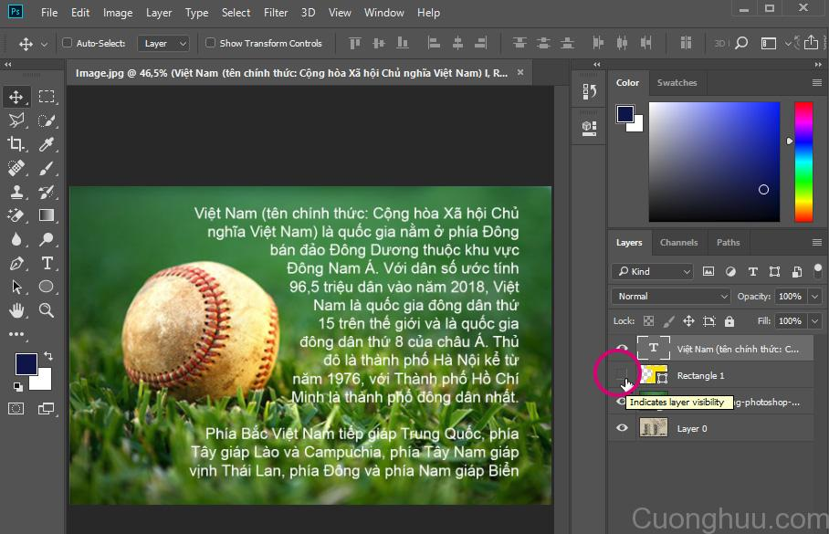 Text Wrap Trong Photoshop